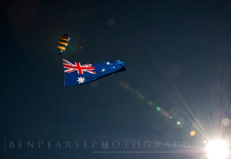 Parachuting in