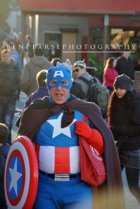 see the mighty Captain America