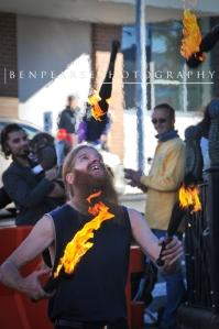 juggling flames