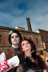 Sweeney Todd & Mrs Lovett near Carrington- WM 2013- low res