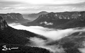 low fog in the grose valley