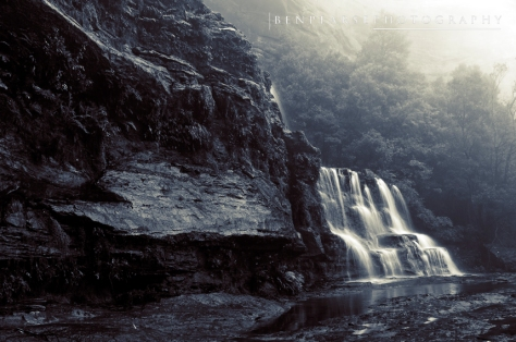 Katoomba falls in the mist