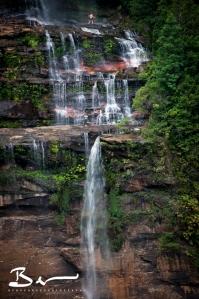having fun in the falls