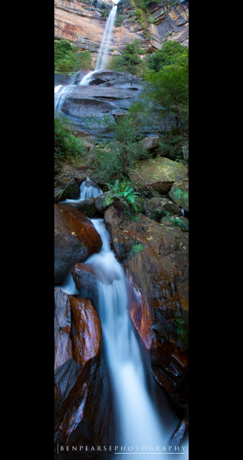 From bottom to top, Katoomba Falls