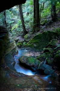 steep water carved valleys