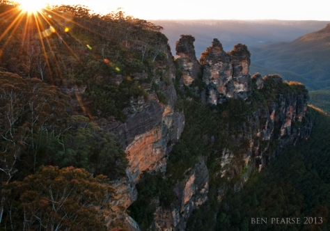 Three sisters sunrise