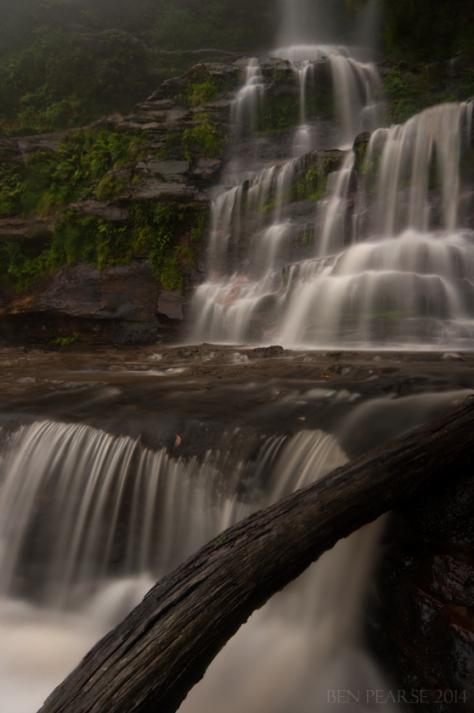 Katoomba falls in heavy rain