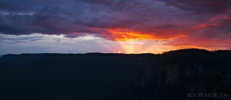 prolonged sunset pano