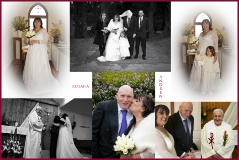 Rosana & Andrew- wedding Ad with border