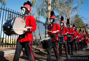 marching to the beat of the drum