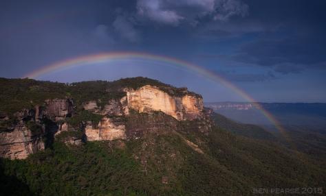 Landslide rainbow