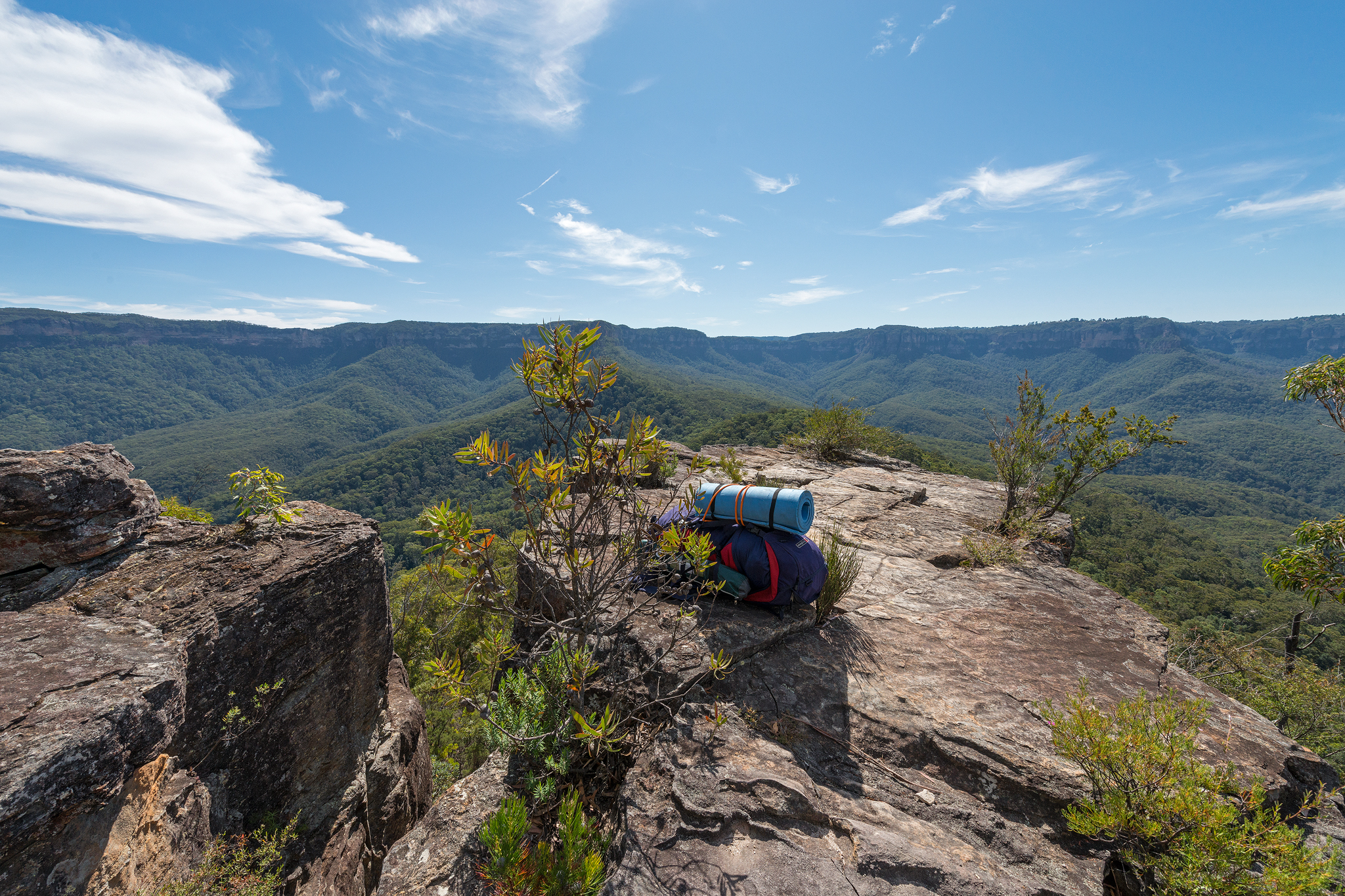 Looking back across the jamison valley to Katoomba