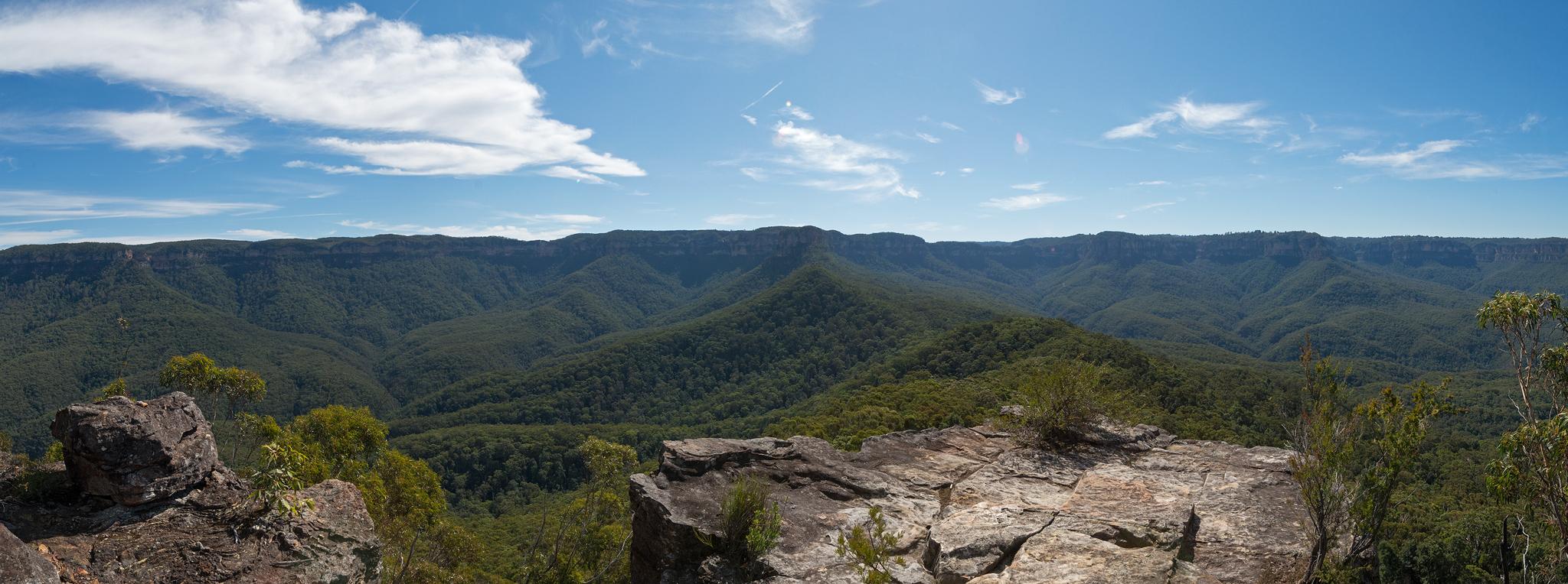 Looking back panoramic views