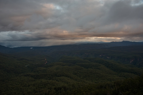 Rain over Lake Burragorang
