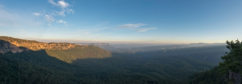 Panoramic view from Melville's lookout