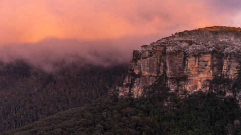 Snowfall in the Blue Mountains